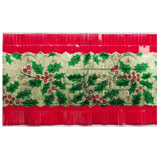 Christmas Holly Cake Frill 1m | Christmas Party Theme & Supplies
