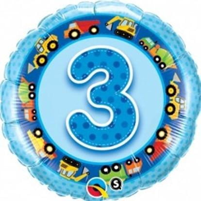 Boy's 3rd Birthday Balloon | 3rd Birthday Party Supplies
