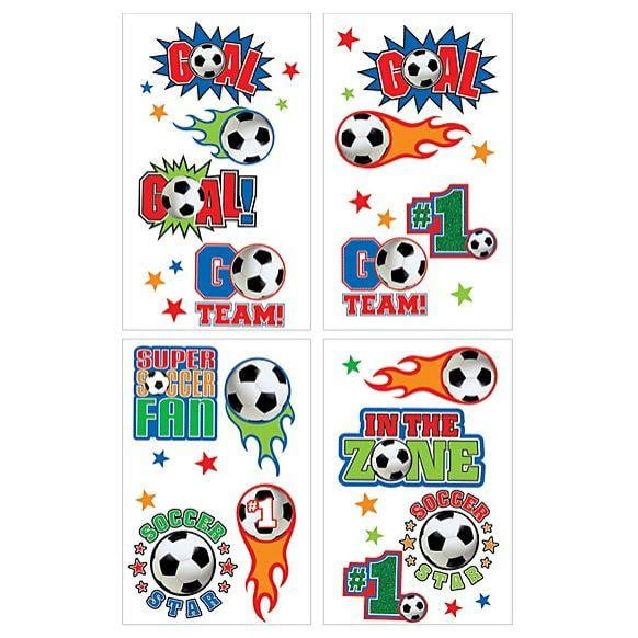 Soccer Temporary Tattoos | Soccer Party Supplies