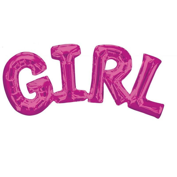 Pink Girl Balloon Banner | Girl Baby Shower Decorations
