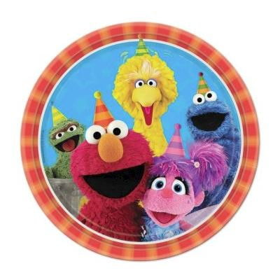 Sesame Street Plates - Dinner | Sesame Street Party Theme & Supplies