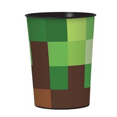 Amscan | Minecraft TNT Plastic Keepsake Cup | Minecraft Party Theme & Supplies