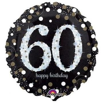 Anagram | Sparkling Black 60th Foil Balloon
