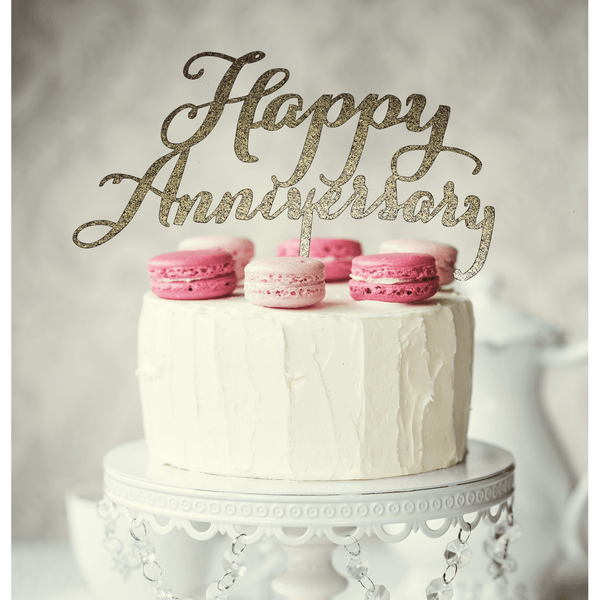 Gold Anniversary Cake Topper | Anniversary Party Supplies