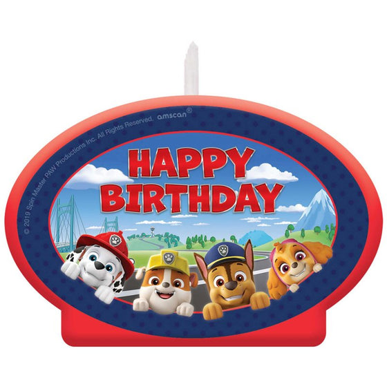 Paw Patrol Adventures Birthday Candle | Amscan