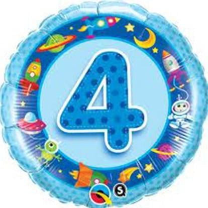 Boy's 4th Birthday Balloon | Boy's 4th Birthday Party Supplies