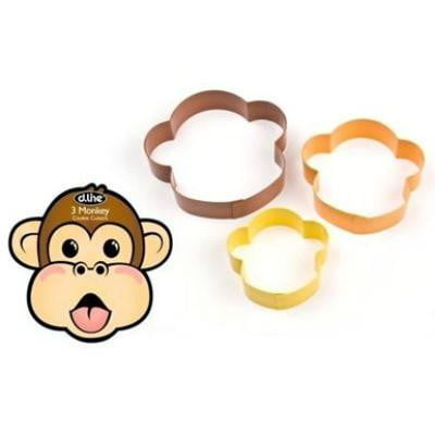 D.Line | Monkey Cookie Cutter Set | Animal Party Theme & Supplies