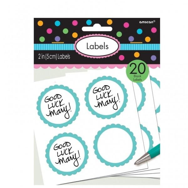 Blue Labels | Party Labels | Party Tags | Blue Party Supplies