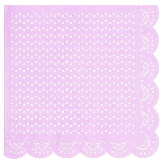 Lavender Lovely Lace Napkins | Lavender Party Supplies