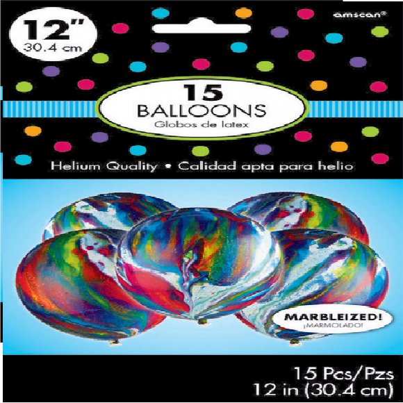 Marble Balloons - Pack of 15