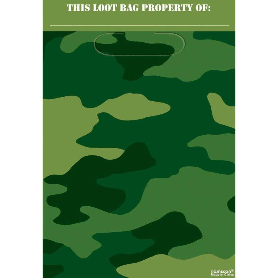 Camo Party Bags | Army Party Bags | Army Party Supplies