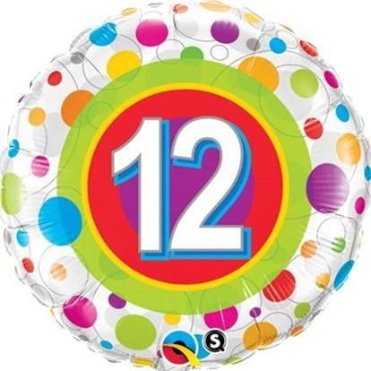 12th Birthday Balloon | 12th Birthday Party Supplies