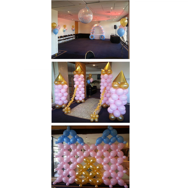 Deluxe Princess Balloon Decor Package