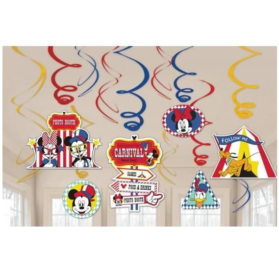 Amscan | Mickey Mouse Carnival Swirl Decorations | Mickey Mouse Party Theme & Supplies |