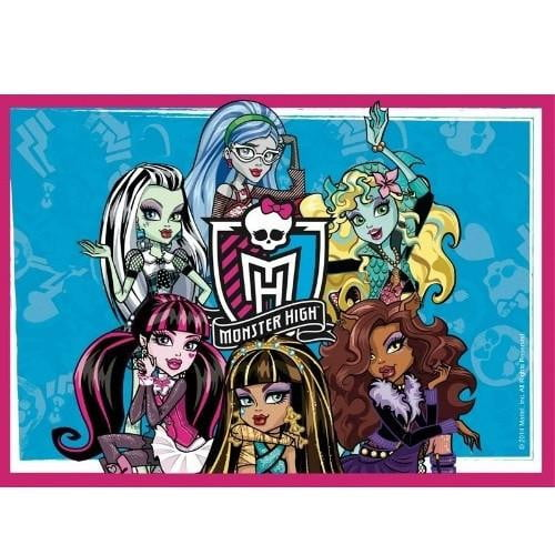 Monster High Edible Cake Image - A4 Size