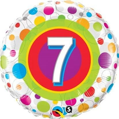 7th Birthday Foil Balloon | 7th Birthday Party Supplies