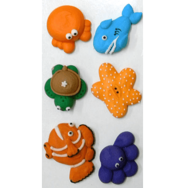 Sea Creature Icing Decorations | Under the Sea Party Theme & Supplies