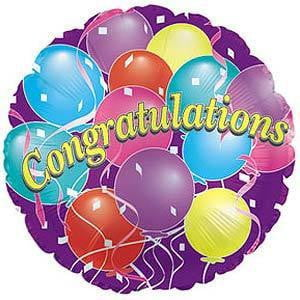Congratulations Foil Balloon | Kids Birthday Party Supplies