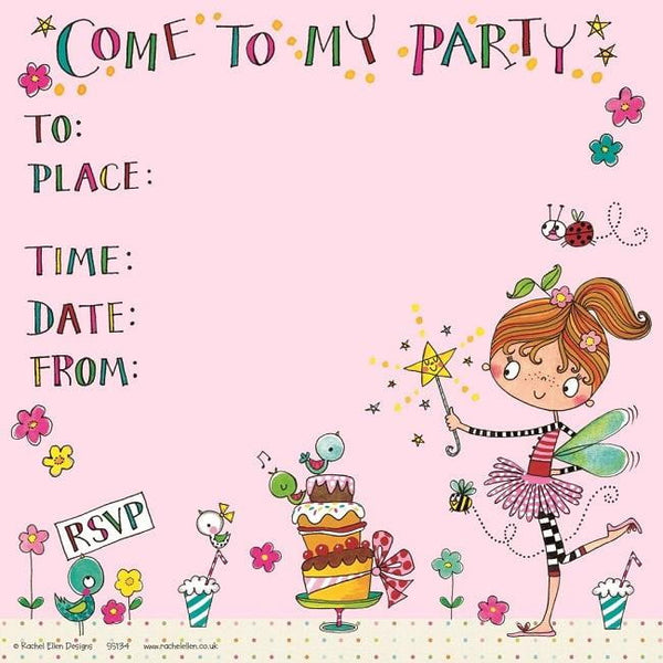 Rachel Ellen | Fairy Cakes Invitations | Fairy Party Supplies