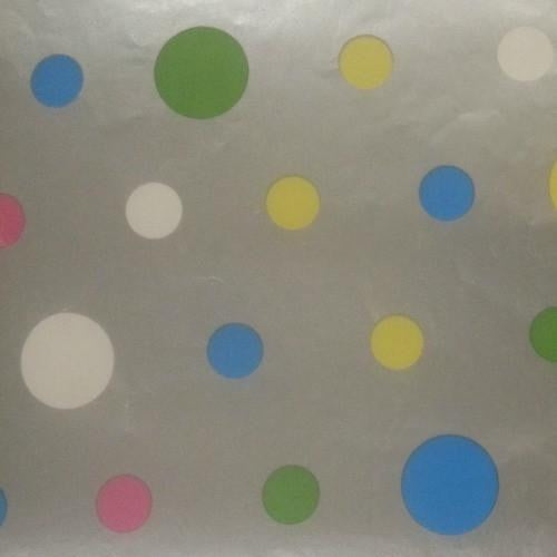 The Studio Workshop | Silver and Coloured Spots Table Runner