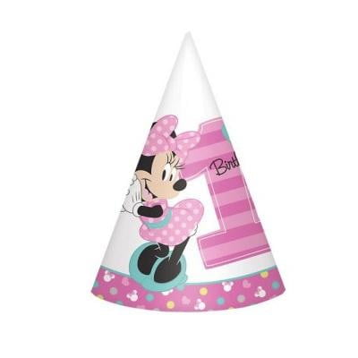 Amscan | Minnie Mouse Fun to be One Party Hats | Minnie Mouse Party Theme & Supplies