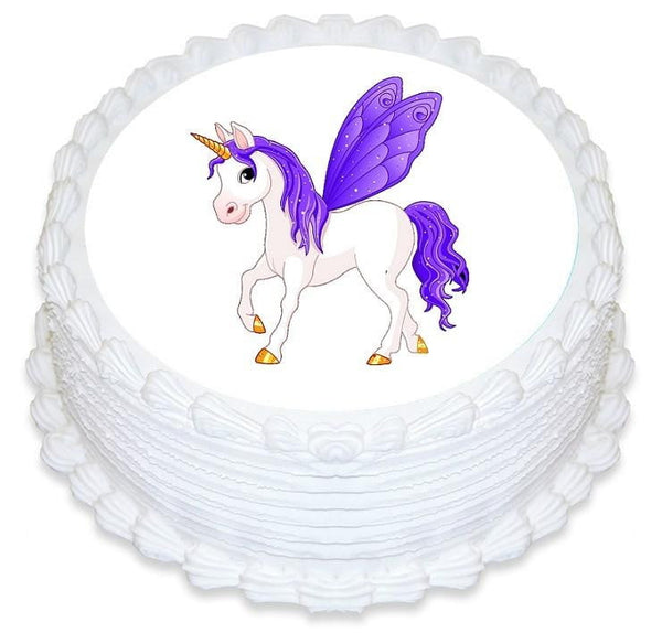 Fairy Unicorn Edible Cake Image