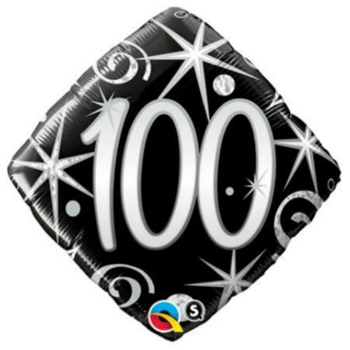 Qualatex | Elegant 100 Foil Balloon | 100th Party Theme & Supplies