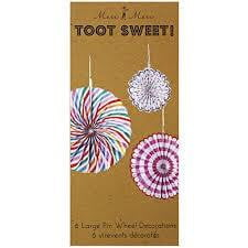 Meri Meri Toot Sweet Pinwheel Decorations