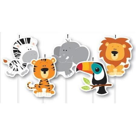 Artwrap | Jungle Animals Candles | Wild Animal Party Theme & Supplies