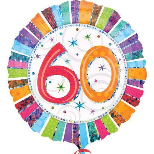 60th Birthday Balloon | 60th Birthday Party Supplies