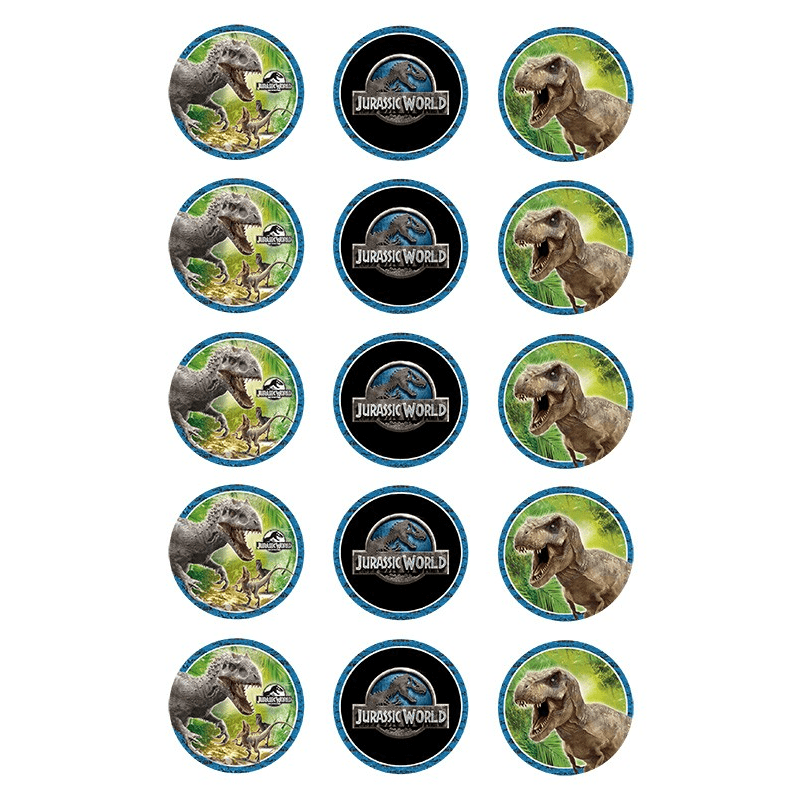 Jurassic Park Cupcake Toppers