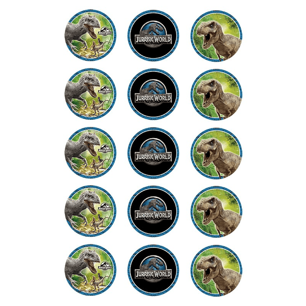 Jurassic Park Cupcake Toppers | Jurassic World Cupcake Toppers