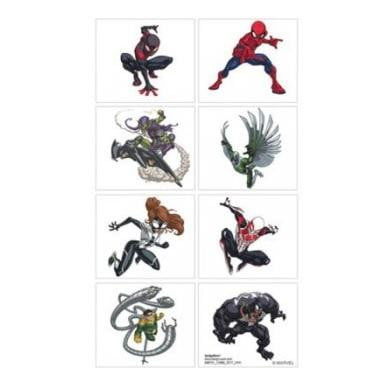Spiderman Webbed Tattoos | Spiderman Party Theme & Supplies