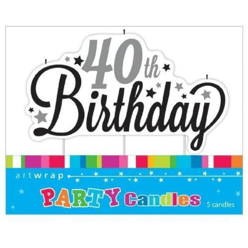 Artwrap | 40th Birthday Candle | 40th Party Theme & Supplies