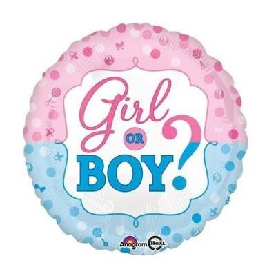Anagram | Gender Reveal Girl or Boy Foil Balloon
