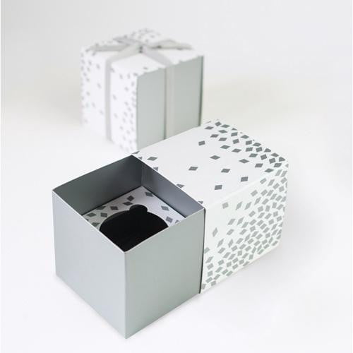 Paper Eskimo | Silver Geo Cupcake Boxes | Silver Party Supplies