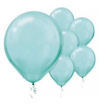 Amscan | Value Balloons Pack of 15 - Pearl Robins Egg Blue