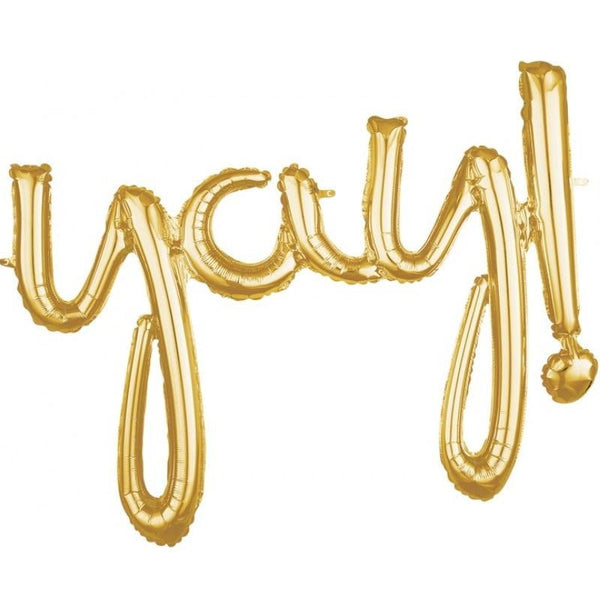 Gold Yay Balloon Banner | Gold Party Decorations