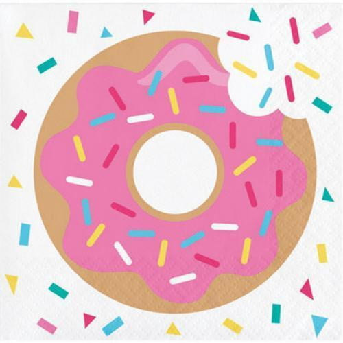Donut Time Beverage Napkins | Donut Party Supplies