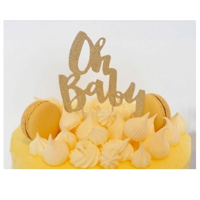 Oh Baby Cake Topper | Baby Shower Cake Topper