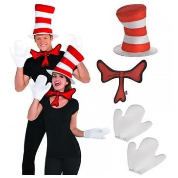Amscan | Dr Seuss Cat in the Hat Accessory Kit | Dr Seuss Party Theme & Supplies