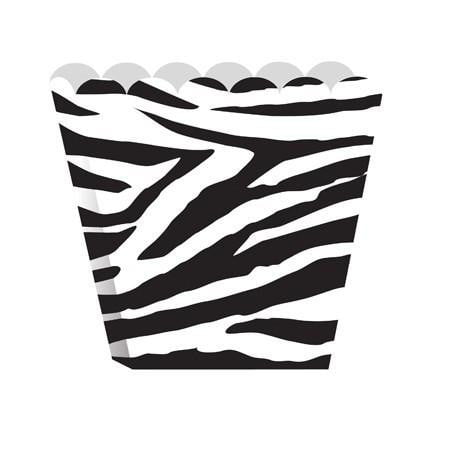 Zebra Scallop-Edged Treat Box | Treat Box Party Theme and Supplies
