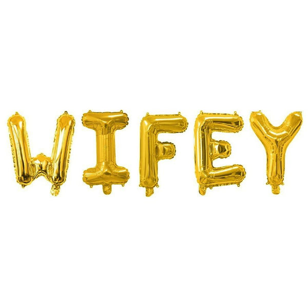 Gold Wifey Balloon Banner | Bridal Shower Decorations