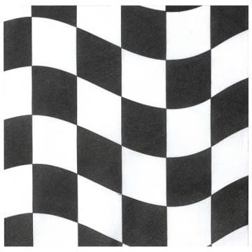 Party Creations | Checkered Napkins | Racing Theme Party & Supplies