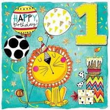 Rachel Ellen 1 Today Lion Birthday Card