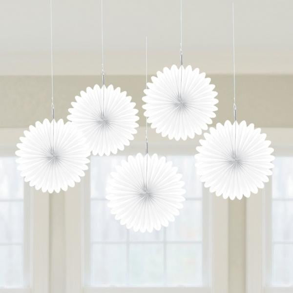 Amscan | White Hanging Fan Decorations
