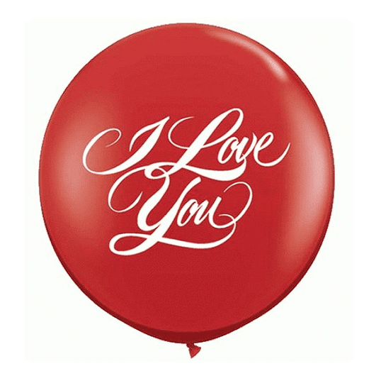 Qualatex | Jumbo I Love You Round Balloon