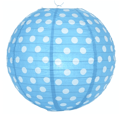 Blue Polka Dot Lantern | Blue Party Decorations