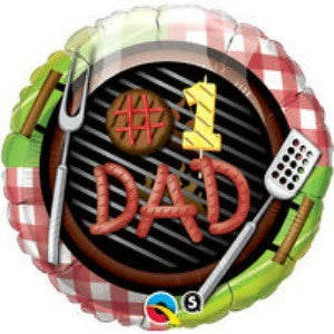 Qualatex | #1 Dad Foil Balloon | Fathers Day Party Theme & Supplies