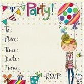 Rachel Ellen Girl with Balloons Invitation | Balloons themes and supplies